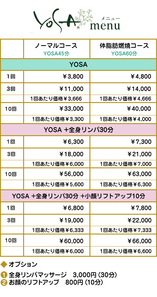 YOSA体験コース・体脂肪燃焼コース